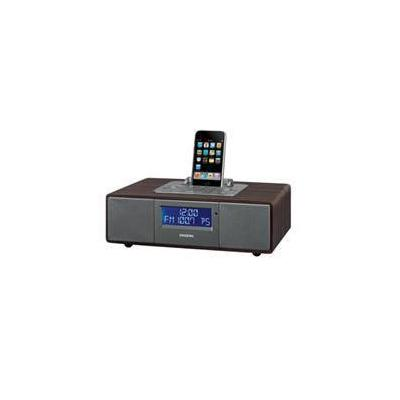 Sangean FM- RBDS / AM / Aux-in Tabletop Wooden Cabinet Receiver Compatible with iPod
