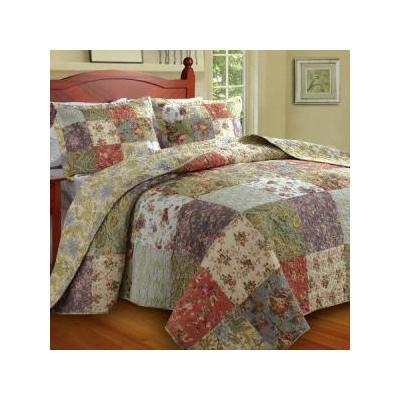 Blooming Prairie Bedspread Set - Size: King