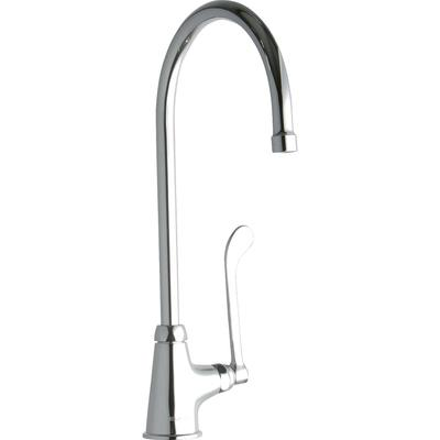 "Elkay LK535GN08T6 Deck Mount Pantry Faucet w/ 8"" Gooseneck Swing Spout & 6"" Wrist Blade Handles"