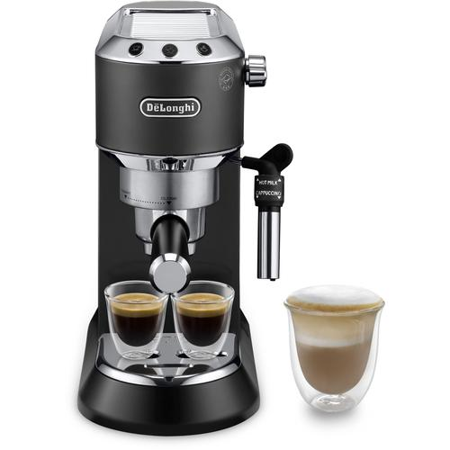 De'Longhi Siebträgermaschine EC 685.B Dedica, 1350 Watt, 15 Bar schwarz Kaffee Espresso Haushaltsgeräte