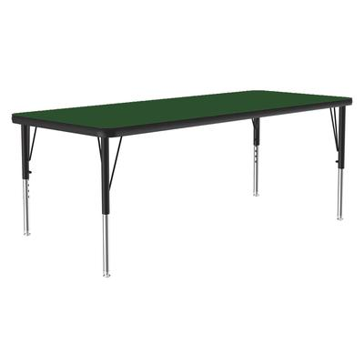 "Correll A2448-REC 39 Activity Table w/ 1 1/4"" High Pressure Top, 48""W x 24""D, Green"