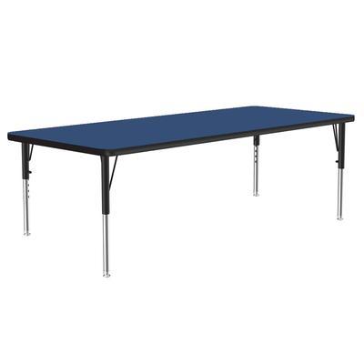 "Correll A3060-REC 37 Activity Table w/ 1 1/4"" High Pressure Top, 60""W x 30""D, Blue"