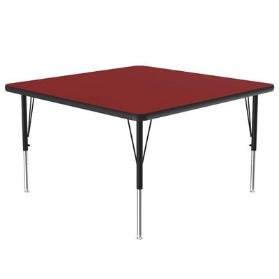 """Correll A4848-SQ 35 Activity Table w/ 1 1/4"""" High Pressure Top, 48""""W x 48""""D, Red"""