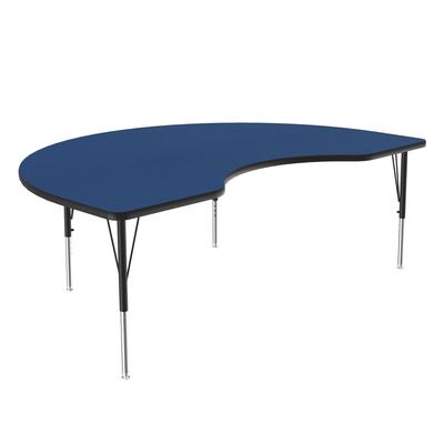 """Correll A4872-KID 37 Activity Table w/ 1 1/4"""" High Pressure Top, 72""""W x 48""""D, Blue"""