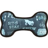 P.L.A.Y. Pet Lifestyle and You Eco Bone Squeaky Plush Dog Toy, Dog's Life