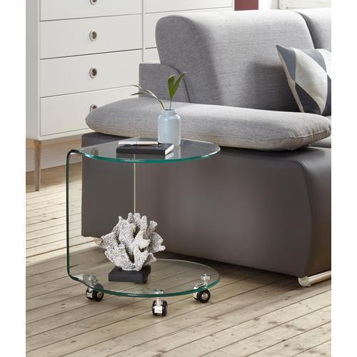 Paroli Beistelltisch, auf Rollen farblos Beistelltische Tische Beistelltisch