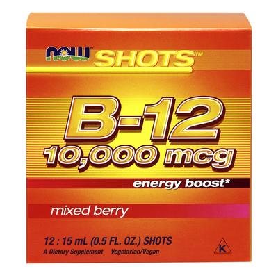 Now Foods Now Shots B-12 10,000 mcg Mixed Berry 12 Shots