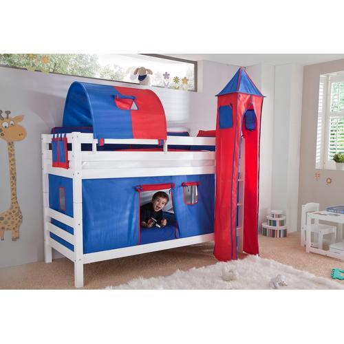 Relita Etagenbett, Set 4-tlg. rot Kinder Etagenbett Kinderbetten Kindermöbel