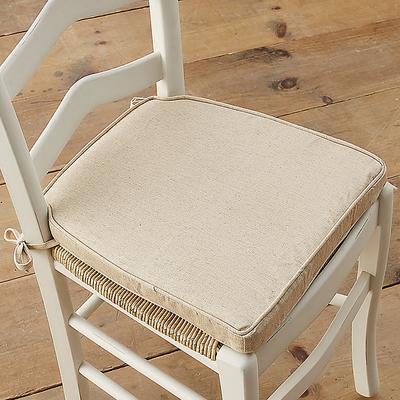 Lemans Dining Chair Cushion Off White Twill - Ballard Designs
