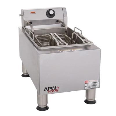 APW EF-15IN Countertop Electric Fryer - (1) 15 lb Vat, 240v/1ph