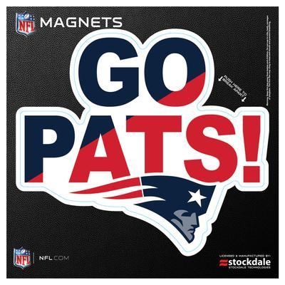 """New England Patriots 6"""" x Xpression Logo Full Color Car Magnet"""