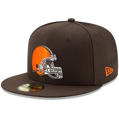 Men's New Era Brown Cleveland Browns Omaha 59FIFTY Fitted Hat