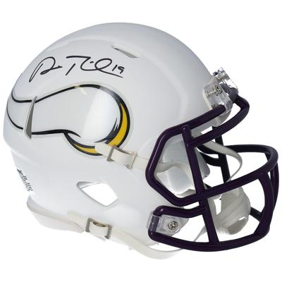 Autographed Minnesota Vikings Adam Thielen Fanatics Authentic Riddell Flat White Alternate Revolution Speed Mini Helmet