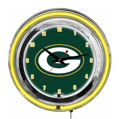 Green Bay Packers Imperial 14'' Neon Clock