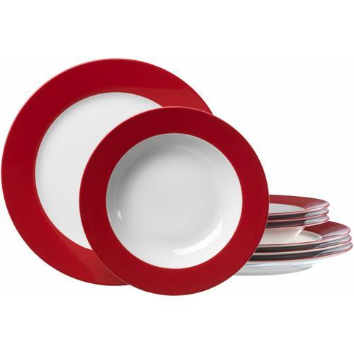 Ritzenhoff & Breker Tafelservice, (Set, 8 tlg.), Spülmaschinengeeignet rot Geschirr-Sets Geschirr, Porzellan Tischaccessoires Haushaltswaren Tafelservice