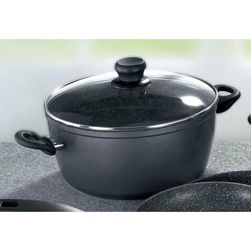 STONELINE Kochtopf, Aluminium, (1 tlg.) schwarz Kochtopf Suppentöpfe Töpfe Haushaltswaren