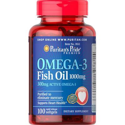 Puritan's Pride 2 Pack of Omega-3 Fish Oil 1000mg-100-Softgels