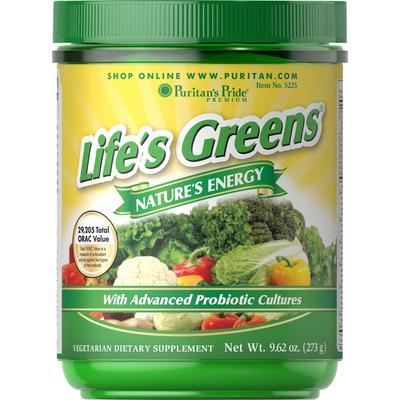 Puritan's Pride 2 Pack of Life's Greens with Advanced Probiotic Formula-9.62 oz-Powder