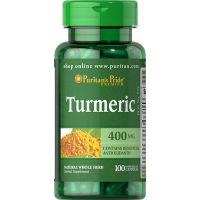 Puritan's Pride 2 Pack of Turmeric 400 mg-100-Capsules
