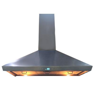 """Cavaliere-Euro 36"""" W Wall Mounted Range Hood With Touch Sensitive LED (SV218F-36) - Stainless Steel"""