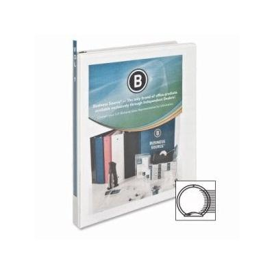"""Business Source Binder, W/ 2 Inside Pockets, 1/2 Capacity, White (Bsn09951)"""