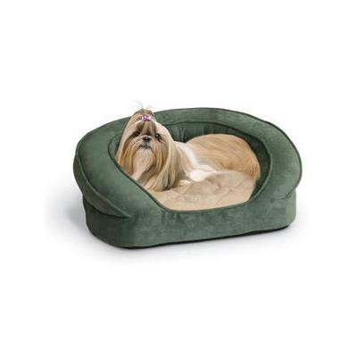 Deluxe Ortho Bolster Dog Sleeper - Size: X- Large (50 W), Color: Green