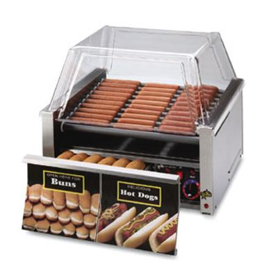 """Star Grill-Max Series 24"""" W Hot Dog Roller Grill With Bun Drawer (30SCBD) - Stainless Steel"""