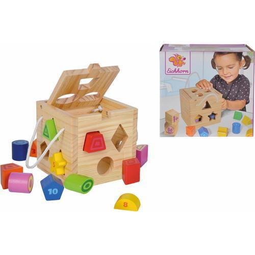 Eichhorn Steckspielzeug, aus Holz bunt Kinder Holzspielzeug Steckspielzeug