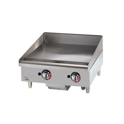 Star 24 Griddle 1 Steel Plate, Thermostat Controls, NG