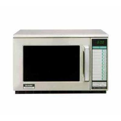 Sharp 2100 W Heavy Duty Commercial Microwave Oven (R25JTF) - Stainless Steel
