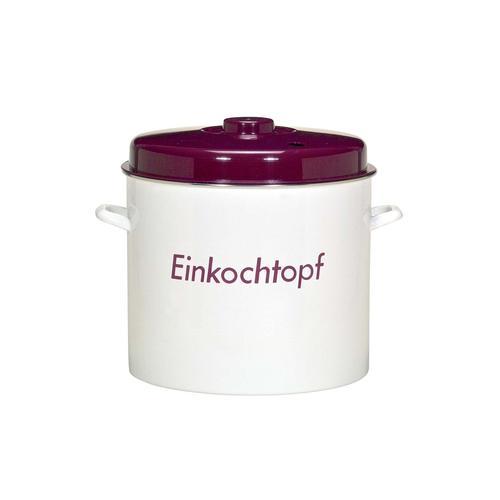 Krüger Einkochtopf, Emaille, (1 tlg.), Induktion weiß Einkochtopf Töpfe