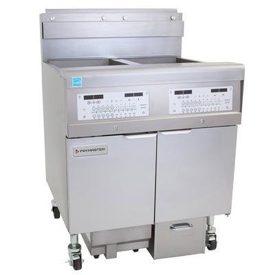 Frymaster 2FQG30U Gas Fryer - (2) 30 lb Vats, Floor Model, Natural Gas