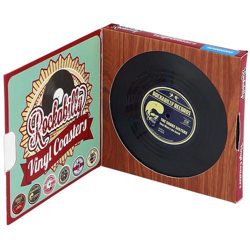 Vinyl Coasters Rockabilly Untersetzer - multicolor