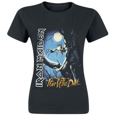 Iron Maiden Fear of the dark Damen-T-Shirt - schwarz - Offizielles Merchandise
