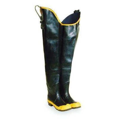 TALON TRAX 5T259 Size 13 Men's Steel Hip Wader, Black/Yellow