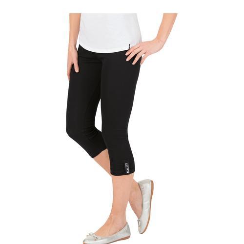 Trigema Leggings 7/8 mit Swarovski Kristallen schwarz Damen Hosen (wirk)