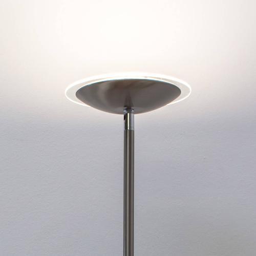 Malea - LED-Deckenfluter, nickel matt