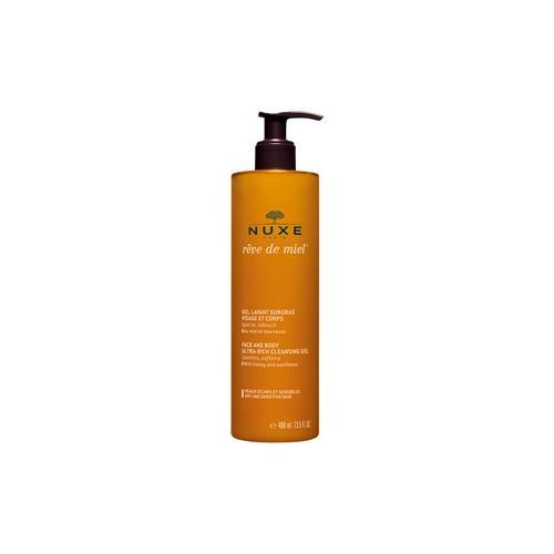 Nuxe Gesichtspflege Rêve de Miel Rückfettendes Waschgel Gesicht und Körper Für trockene und sensible Haut 400 ml