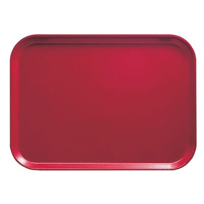 """Cambro 1116221 Fiberglass Camtray? Cafeteria Tray Insert - 15 4/5""""L x 10 4/5""""W, Ever Red"""