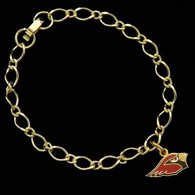 Arizona Cardinals Women's Gold-Tone Charm Bracelet
