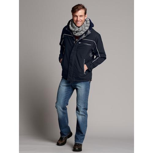 Jacke wasserabweisend Men Plus Marineblau