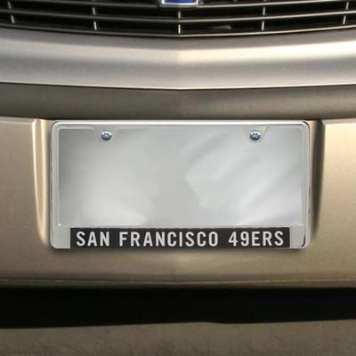 San Francisco 49ers Team Silver Glitter Small Wordmark Metal Frame - Black