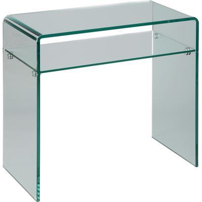Console design en verre trempé courbé 1 rayon