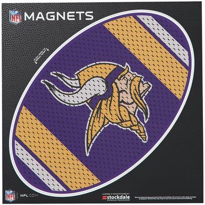 "Minnesota Vikings Jersey 6"" x Oval Full Color Magnet"