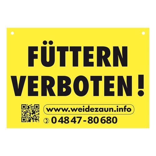 5x Warnschilder FÜTTERN VERBOTEN