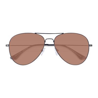 EyeBuyDirect - Unisex Aviator Black Metal Prescription sunglasses - EyeBuydirect's Good Vibrations