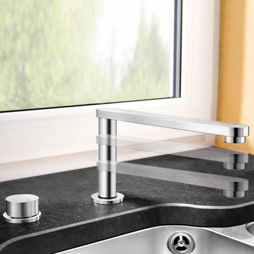 Blanco Eloscope-F II Einhebelmischer, Ausladung: 242 mm, für Vorfenstermontage 516672