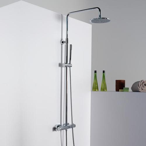 Steinberg Serie 100 / 170 Brauseset komplett mit Thermostatarmatur chrom 100 2721