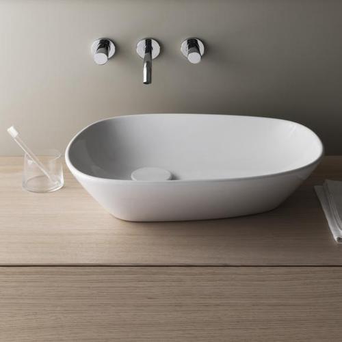 Laufen Palomba Waschtisch-Schale B: 52 H: 13 T: 38 cm weiß, mit Clean Coat H8168024001121