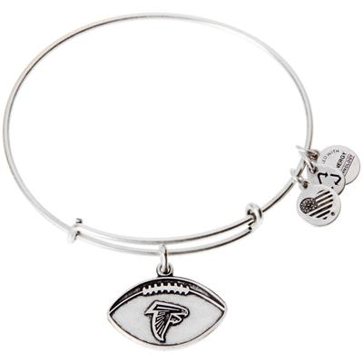 Women's Atlanta Falcons Alex and Ani Silver Logo Bracelet